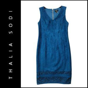 Thalia Sodi Women Sleeveless Sheath Dress Blue